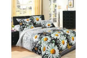 Постельное белье с модным рисунком в виде крупных цветов