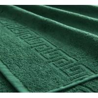"Полотенце махровое с бордюром ""Темно-зеленое"""