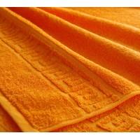 """Полотенце махровое с бордюром """"Оранжевое"""""""