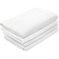 Набор вафельных полотенец  белого цвета  (3 шт.)