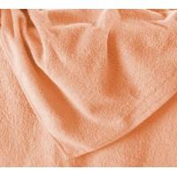 Простынь махровая персиковая